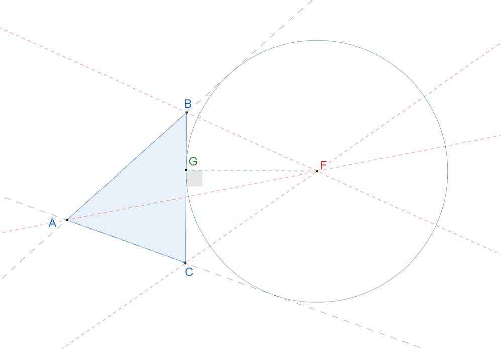 Вневписанная окружность треугольника. 1