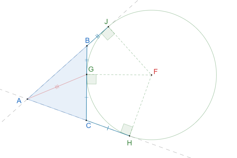 Вневписанная окружность треугольника. 10