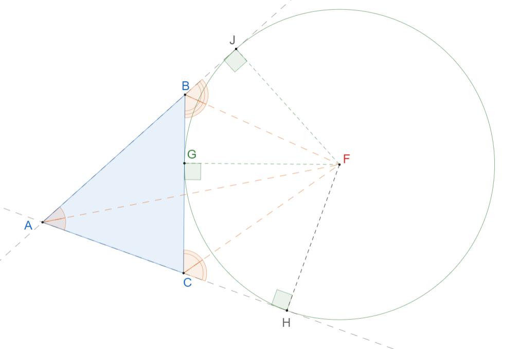 Вневписанная окружность треугольника. 2